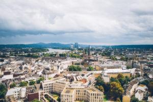 Blick vom Stadthaus über Bonn